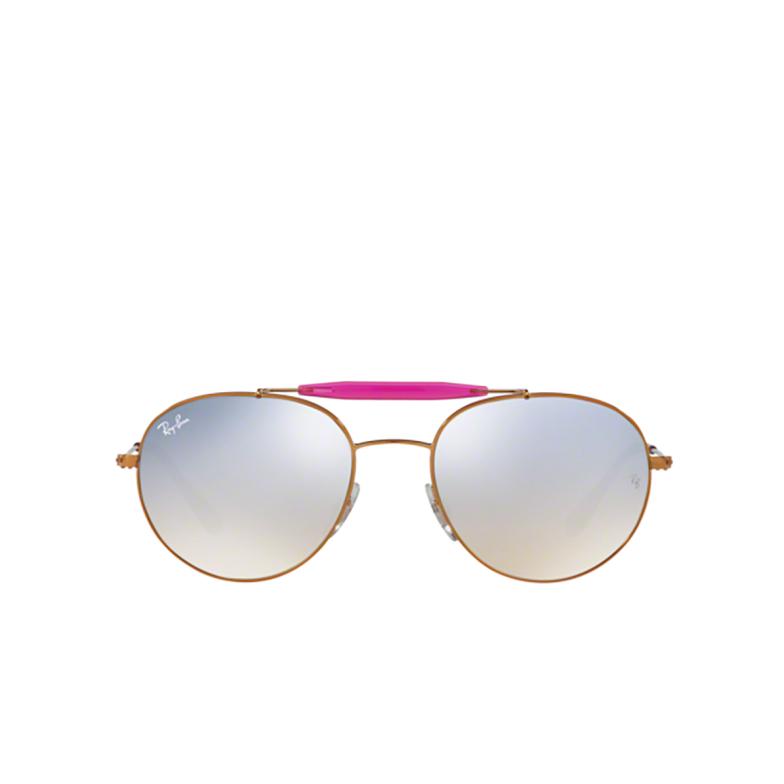 Ray-Ban® Round Sunglasses: RB3540 color Shiny Bronze 198/9U.