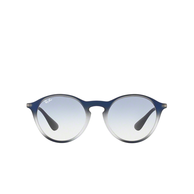 Ray-Ban® Round Sunglasses: RB4243 color Blue Shot On Black 622519.