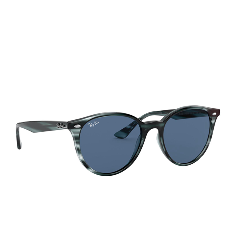 Ray-Ban® Round Sunglasses: RB4305 color Striped Blue Havana 643280.