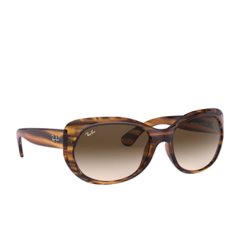Ray-Ban® Oval Sunglasses: RB4325 color Striped Red Havana 820/13.