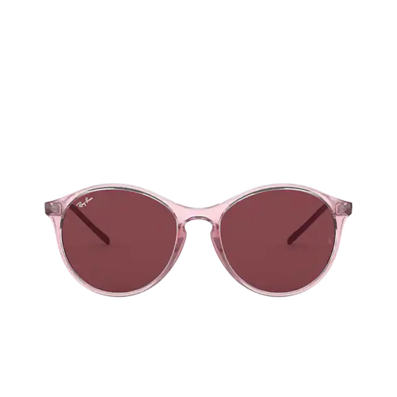 Ray-Ban® Round Sunglasses: RB4371 color Transparent Pink 640075.