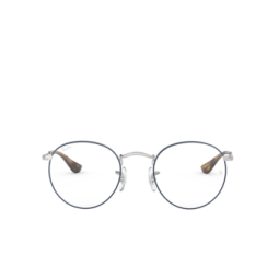 Ray-Ban® Eyeglasses: Round Metal RX3447V color Silver On Top Blue 2970.