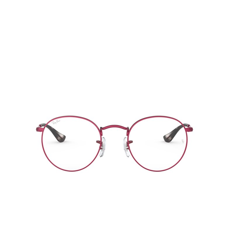 Ray-Ban® Round Eyeglasses: Round Metal RX3447V color Sand Trasparent Red 3072.