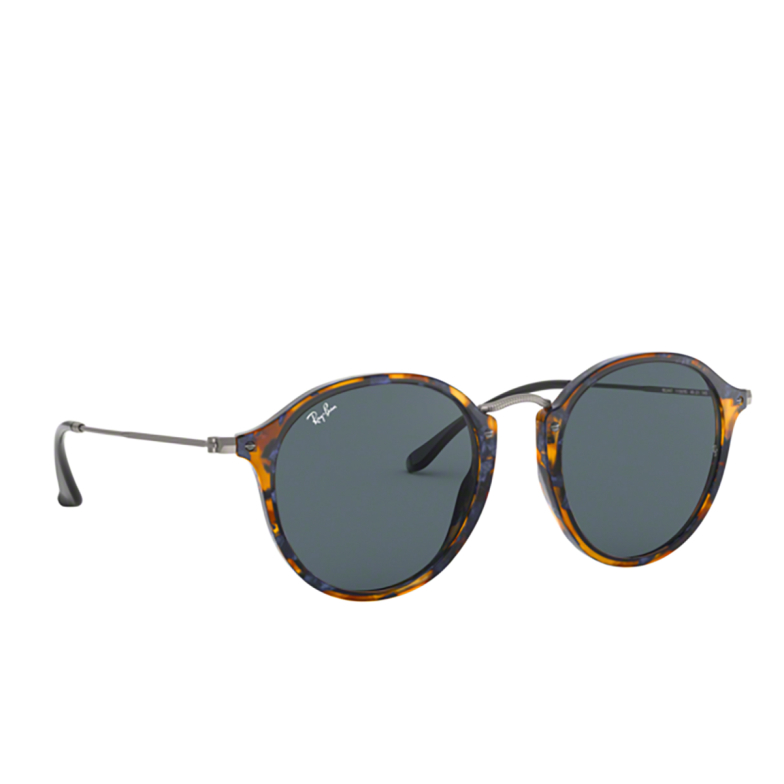 Ray-Ban® Round Sunglasses: Round RB2447 color Spotted Blue Havana 1158R5.
