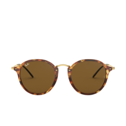 Ray-Ban® Sunglasses: Round RB2447 color Spotted Brown Havana 1160.
