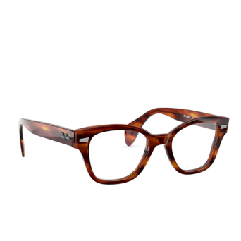 Ray-Ban® Square Eyeglasses: RX0880 color Striped Havana 2144.
