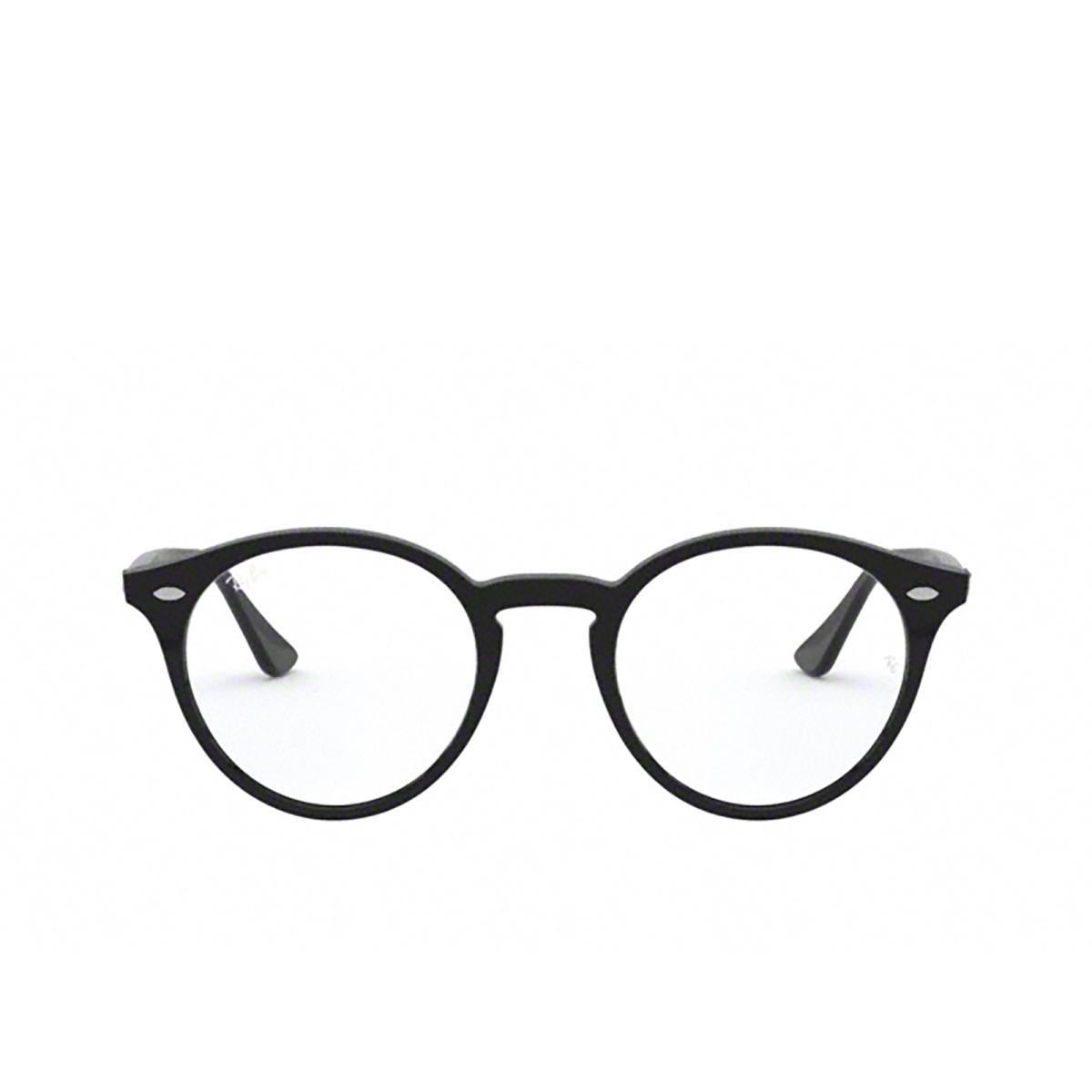 Ray-Ban® Round Eyeglasses: RX2180V color Shiny Black 2000 - front view.