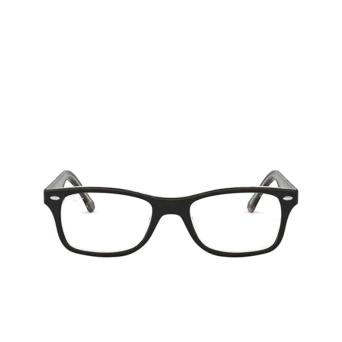 Ray-Ban® Square Eyeglasses: RX5228 color Top Black / Dark Brown / Yellow 5912.