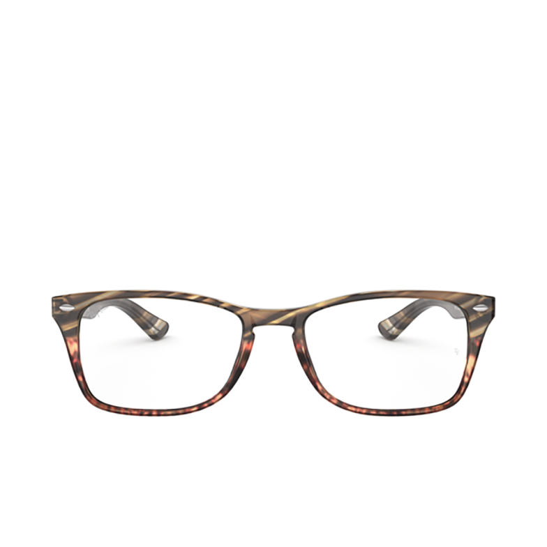 Ray-Ban® Rectangle Eyeglasses: RX5228M color Grey Gradient Brown 5837.