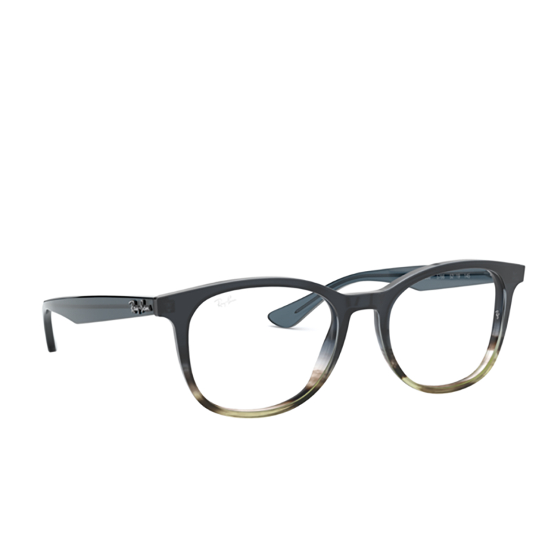 Ray-Ban® Square Eyeglasses: RX5356 color Gradient Grey On Stripped Grey 5766.