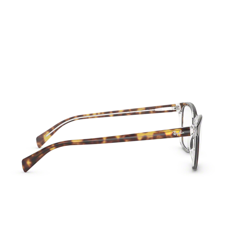 Ray-Ban® Square Eyeglasses: RX5362 color Top Havana On Transparent 5082.
