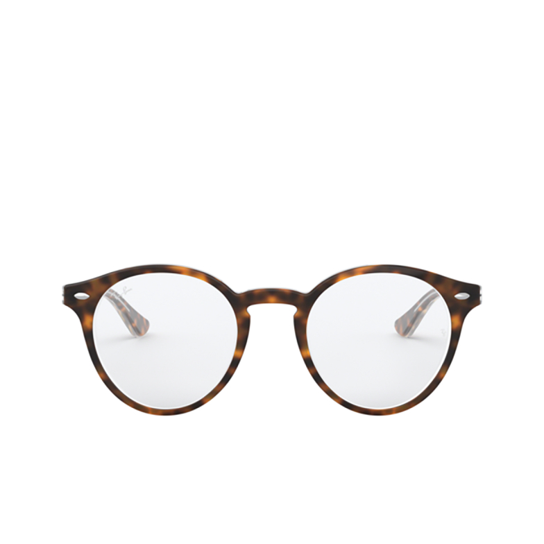 Ray-Ban® Round Eyeglasses: RX5376 color Top Havana On Transparent 5082.