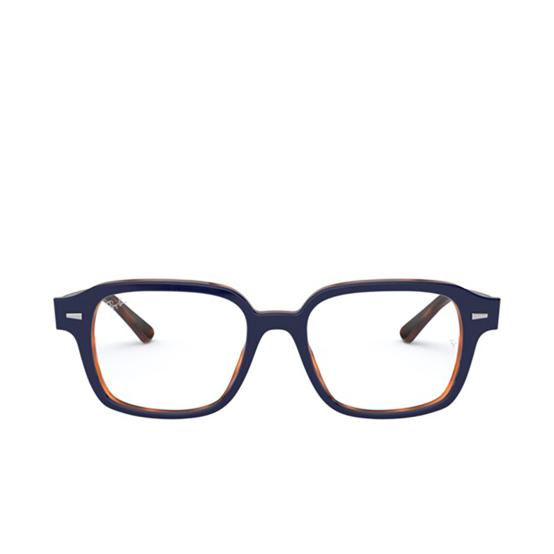 Ray-Ban® Square Eyeglasses: RX5382 color Top Blue On Havana Red 5910.