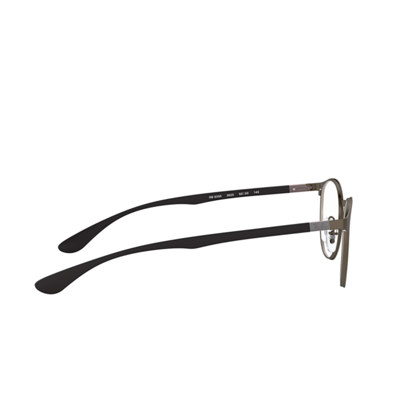 Ray-Ban® Round Eyeglasses: RX6355 color Matte Gunmetal 2620.