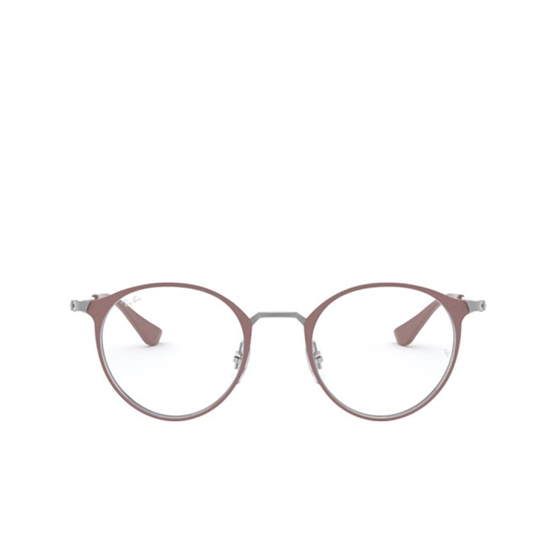 Ray-Ban® Round Eyeglasses: RX6378 color Gunmetal/turtledove 2907.