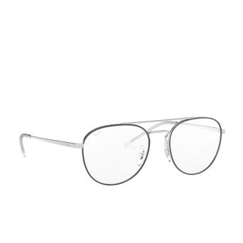 Ray-Ban® Aviator Eyeglasses: RX6414 color Black On Silver 2983.