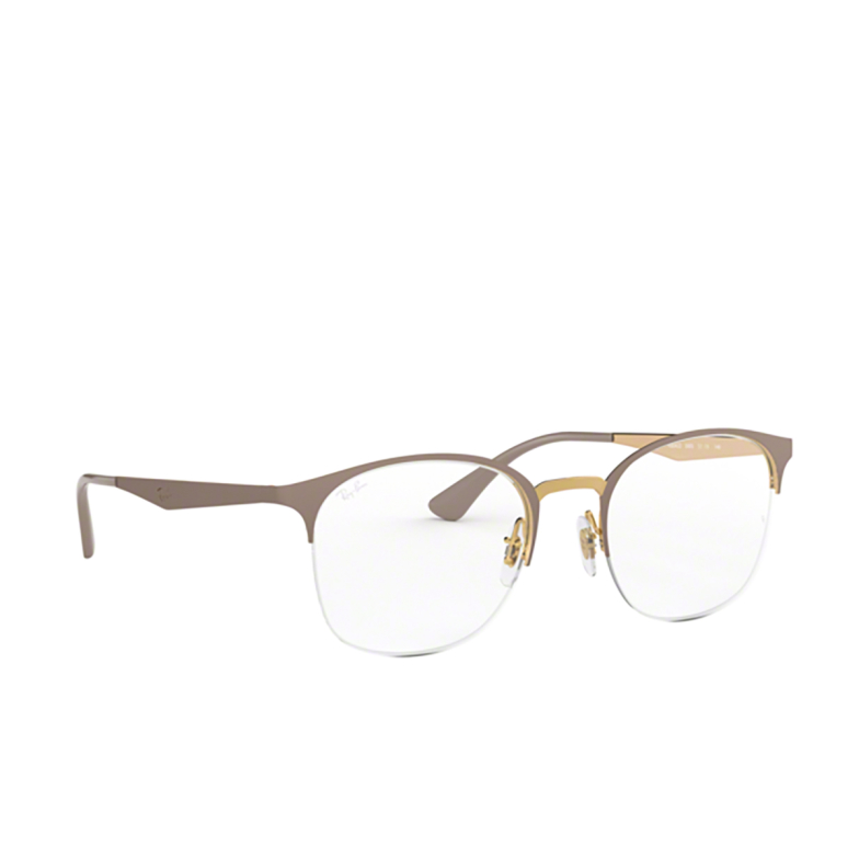 Ray-Ban® Square Eyeglasses: RX6422 color Gold On Top Matte Beige 3005.