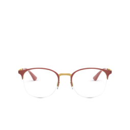 Ray-Ban® Eyeglasses: RX6422 color Top Matte Red On Shiny Gold 3046.
