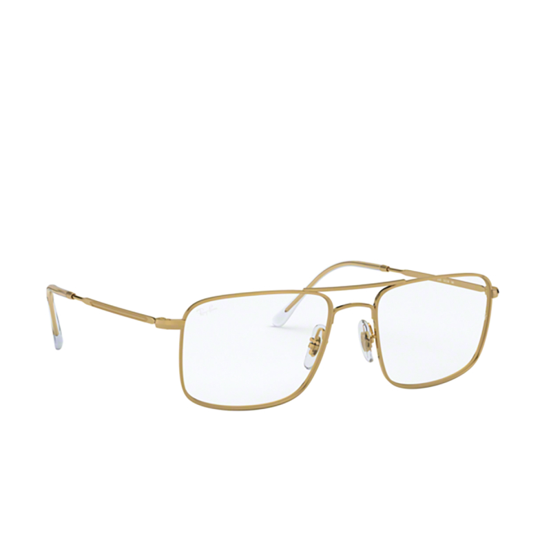 Ray-Ban® Rectangle Eyeglasses: RX6434 color Gold 2500.