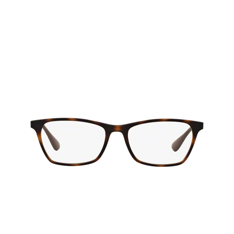 Ray-Ban® Square Eyeglasses: RX7053 color Rubber Havana 5365.