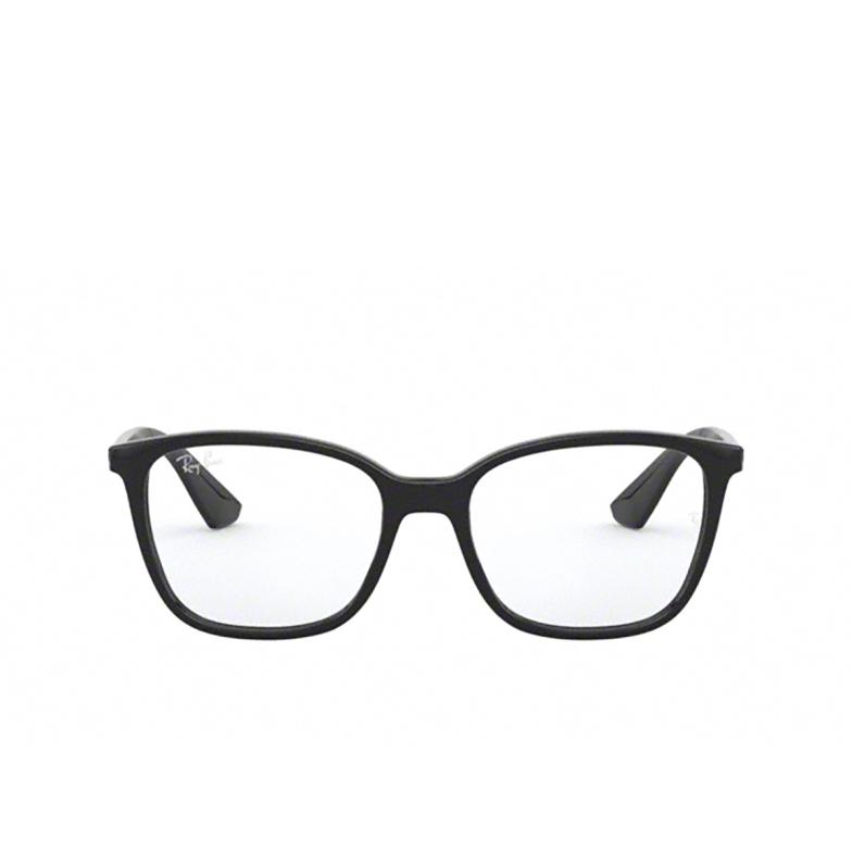 Ray-Ban® Square Eyeglasses: RX7066 color Shiny Black 2000.