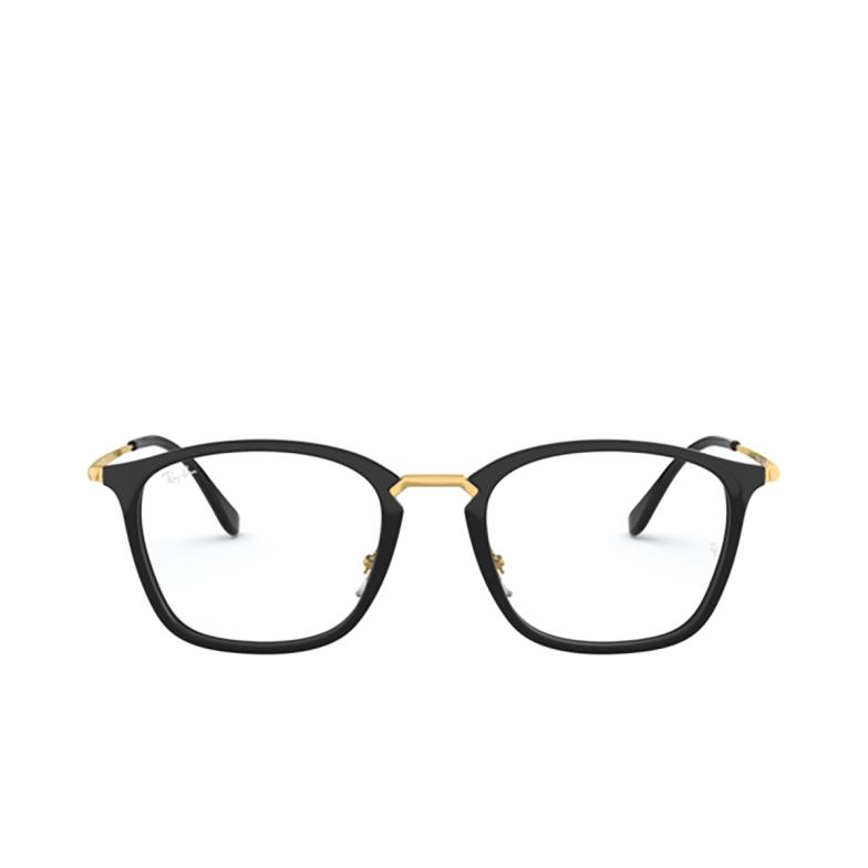Ray-Ban® Square Eyeglasses: RX7164 color Black 2000.