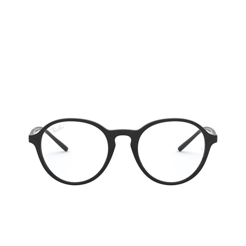Ray-Ban® Round Eyeglasses: RX7173 color Black 2000.