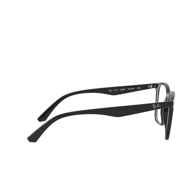 Ray-Ban® Square Eyeglasses: RX7177 color Black 2000.