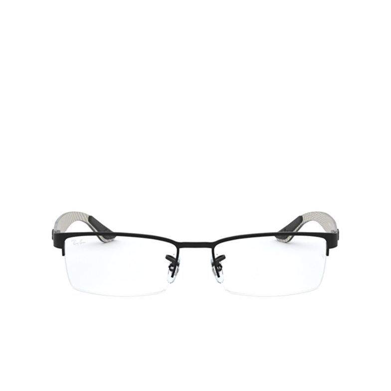 Ray-Ban® Rectangle Eyeglasses: RX8412 color Matte Black 2503.