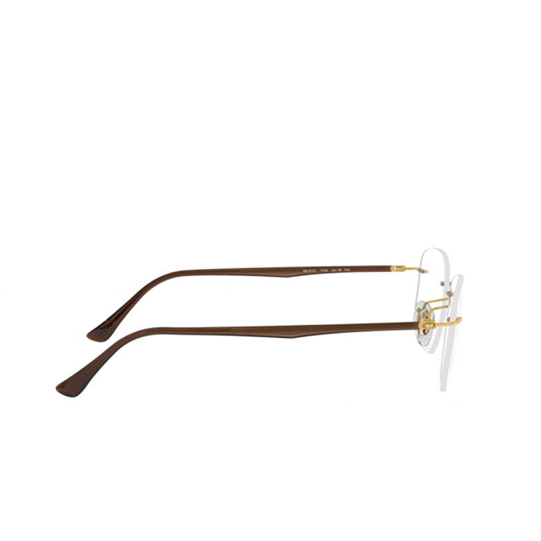Ray-Ban® Irregular Eyeglasses: RX8757 color Gold 1194.