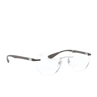 Ray-Ban® Irregular Eyeglasses: RX8766 color Shiny Light Brown 1131.