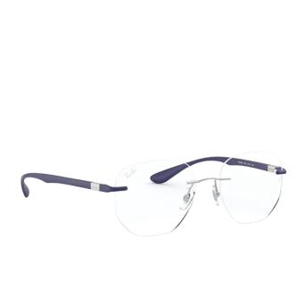 Ray-Ban® Irregular Eyeglasses: RX8766 color Shiny Silver 1216.