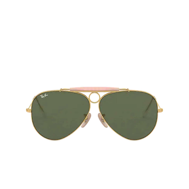 Ray-Ban® Aviator Sunglasses: Shooter RB3138 color Arista 001.