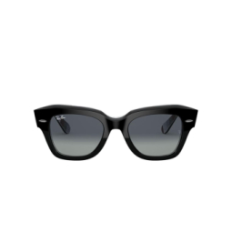 Ray-Ban® Sunglasses: State Street RB2186 color Black On Chevron Grey / Burgundy 13183A.