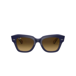 Ray-Ban® Sunglasses: State Street RB2186 color Blue On Stripes Orange / Blue 132085.