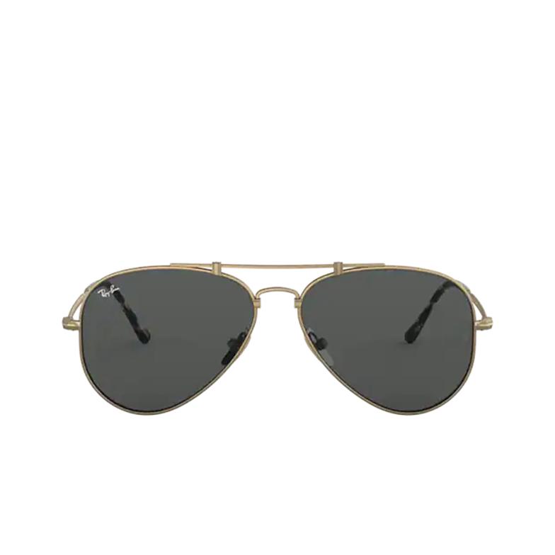 Ray-Ban® Aviator Sunglasses: Titanium RB8125 color Demi Gloss Antique Arista 913757.