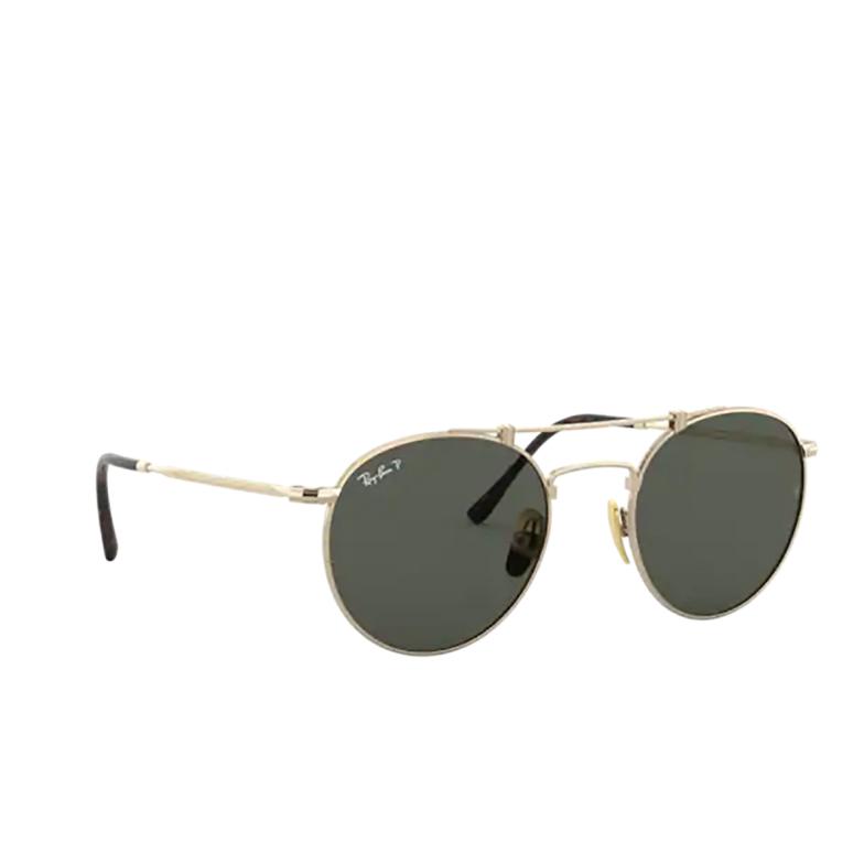 Ray-Ban® Round Sunglasses: Titanium RB8147M color Demi Gloss White Gold 9143.