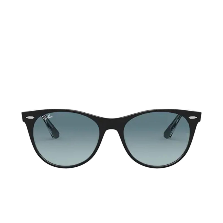 Ray-Ban® Round Sunglasses: Wayfarer Ii RB2185 color Black On Transparent 12943M.