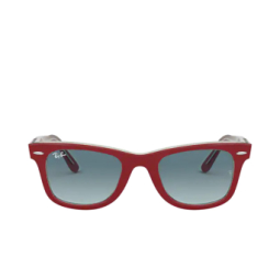 Ray-Ban® Sunglasses: Wayfarer RB2140 color Red On Transparent Grey 12963M.