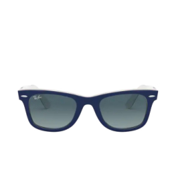Ray-Ban® Sunglasses: Wayfarer RB2140 color Blue On White 12993M.