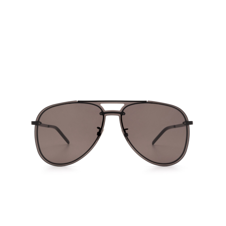 Saint Laurent® Aviator Sunglasses: CLASSIC 11 MASK color Black 002.