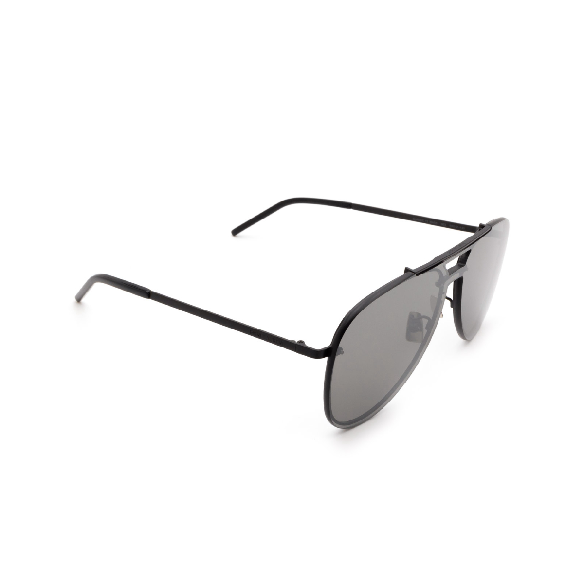Saint Laurent® Aviator Sunglasses: CLASSIC 11 MASK color Black 003.