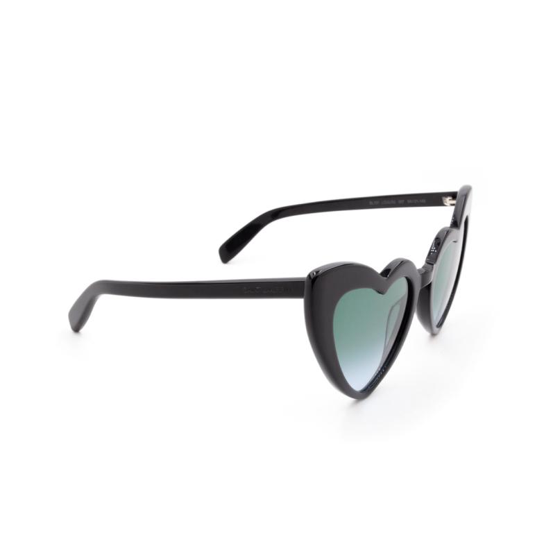 Saint Laurent® Irregular Sunglasses: Loulou SL 181 color Black 007.