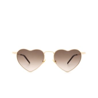 Saint Laurent® Irregular Sunglasses: Loulou SL 301 color Gold 009.