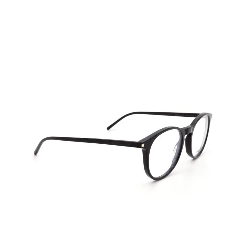 Saint Laurent® Round Eyeglasses: SL 106 color Black 001.
