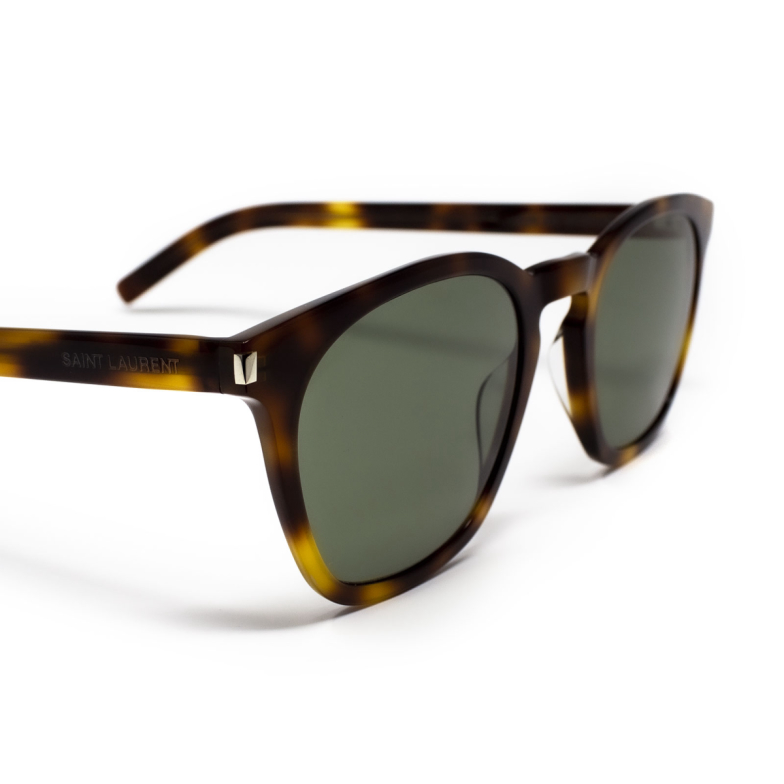Saint Laurent® Square Sunglasses: SL 28 SLIM color Havana 002.