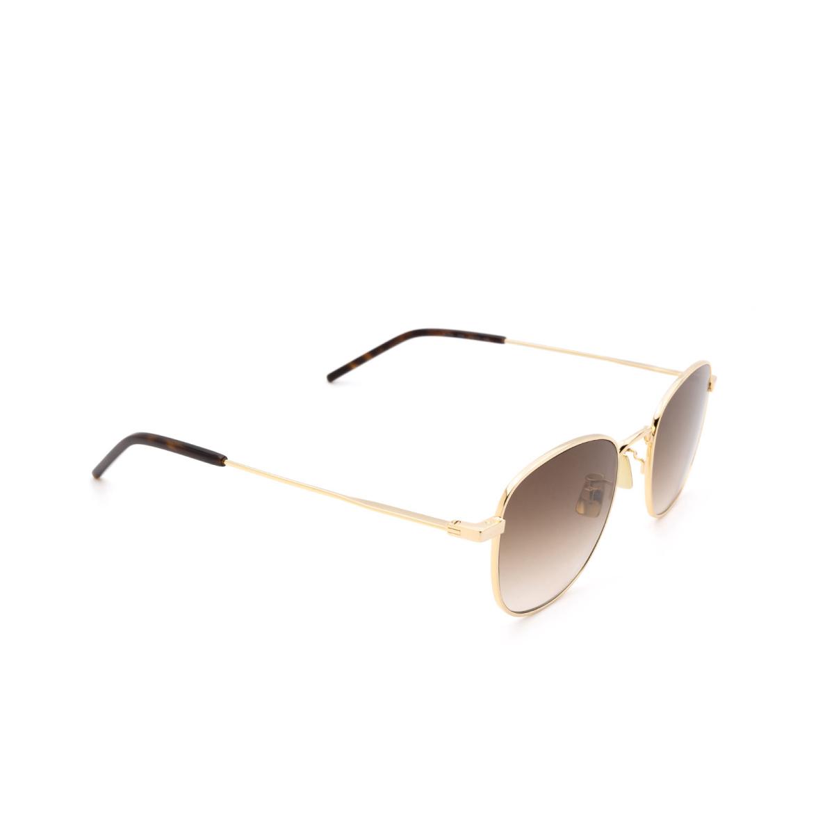 Saint Laurent® Square Sunglasses: SL 299 color Gold 008.