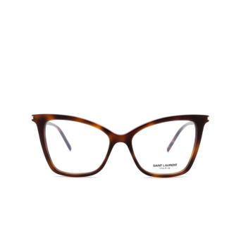 Saint Laurent® Cat-eye Eyeglasses: SL 386 color Havana 002.