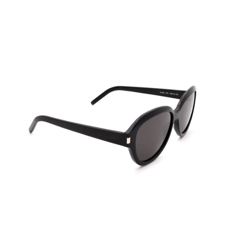 Saint Laurent® Butterfly Sunglasses: SL 400 color Black 001.