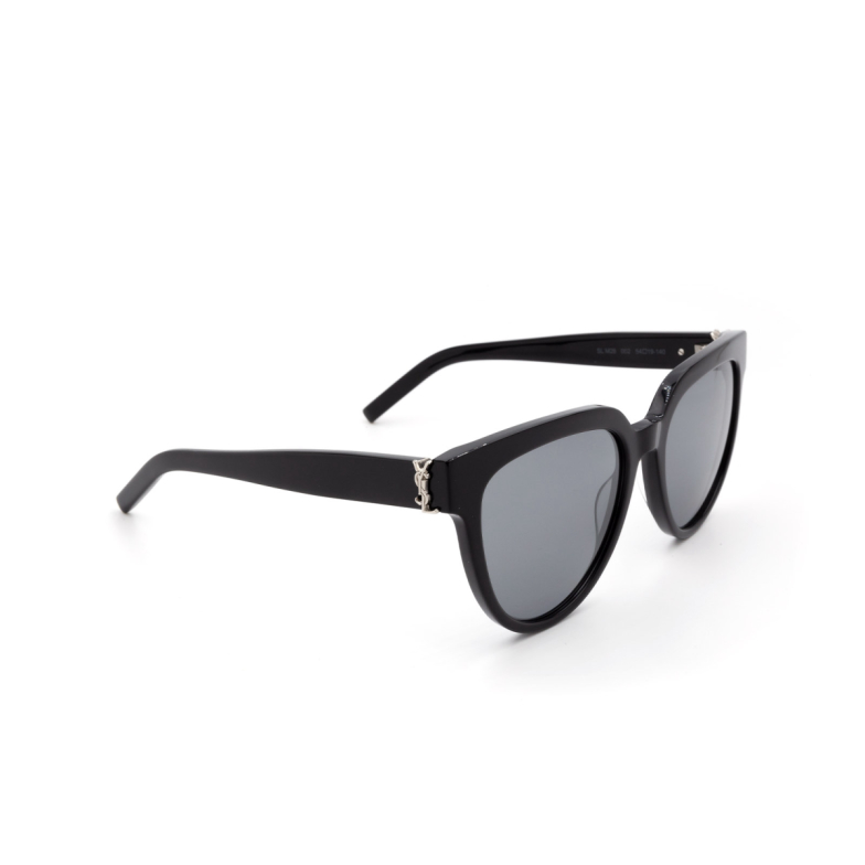 Saint Laurent® Butterfly Sunglasses: SL M28 color Black 002.